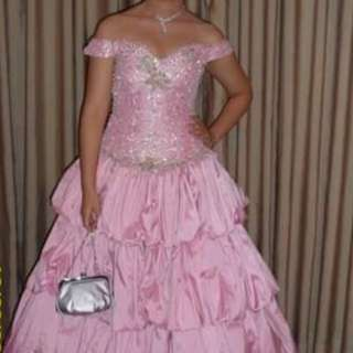 Pink Elegant Gown with beads