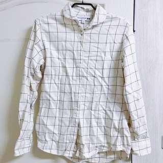 Uniqlo 聯名法國INES 法蘭絨格紋襯衫