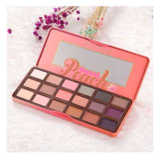 Too faced 18 Colors Makeup Beauty Sweet Juicy Peach Eye Shadow Collection Palette