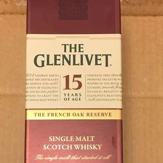 The Glenlivet 格蘭利威15年  1000ml