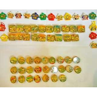 懷舊動卡通系列*Snoopy老香港街道名勝地區 VS 大口仔 世界國家足球衣*磁力木夾 ( $20共3套 )
