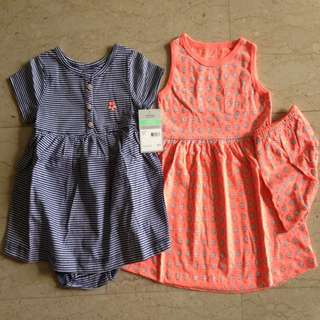 BNIP 18m Carter's Dresses Set