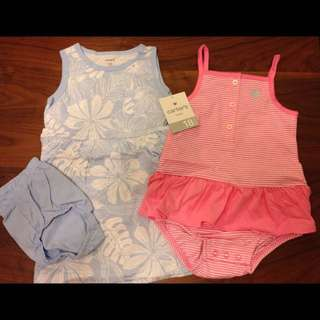 BNIP 18m Carter's Dress& Romper Set