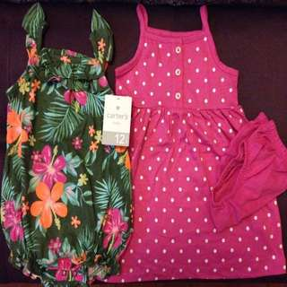 BNIP 12m Carter's Dress & Romper Set