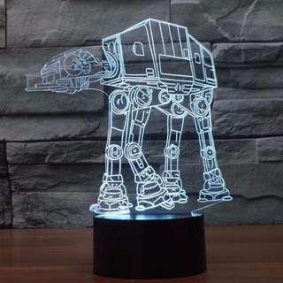 Star Wars AT-AT Walker LED Lamp 3D Night Light