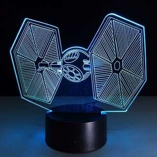 Star Wars Tie Fighter LED Lamp 3D Night Light