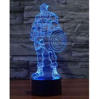Marvel Captain America LED Lamp 3D Night Light