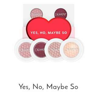 Colourpop yes, no, maybe so eyeshadow collection