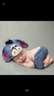 Baby crochet costume eyore photography