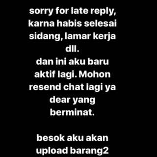 LATE REPLY