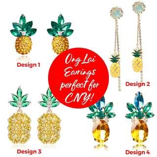 CNY 🍍 Earrings!!!