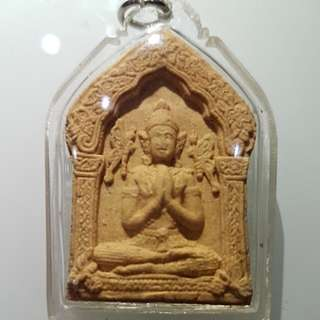 Khun paen Taep jamlaeng Butterfly Twins Deva (note that chipped at the back top 2 side of the amulet)