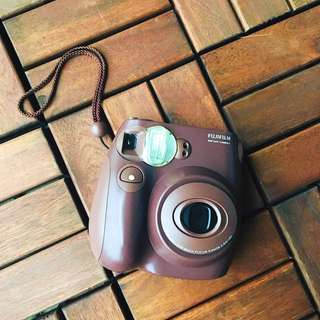 Fujifilm Instax Camera in Brown