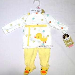 清倉價--CARTER'S carters 星星小鴨新生兒三件套裝 初生嬰兒服