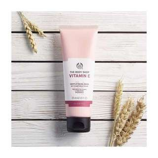 (INSTOCK) the body shop vitamin e gentle facial wash
