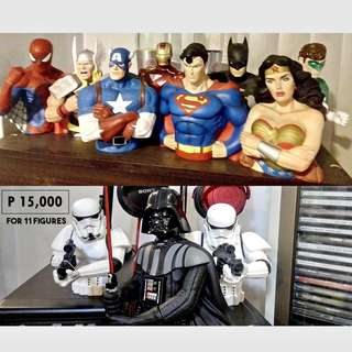Justice League & Marvel Heroes + Star Wars
