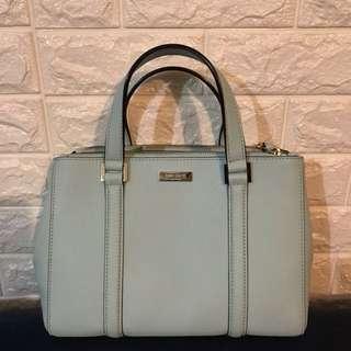Kate Spade Newbury Lane Small Loden Cyber Blue Leather Handbag WKRU2462