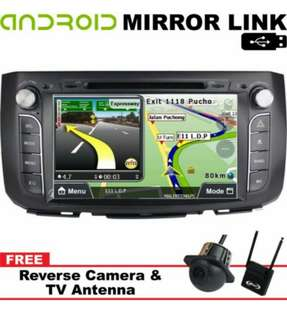 "Perodua Alza DVD Player OEM 9"" Mirror Link Android / IOS"