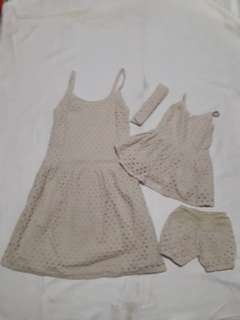 Mom and daughter terno dress (lace) repriced