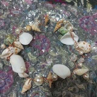貝殼小清新新娘頭飾