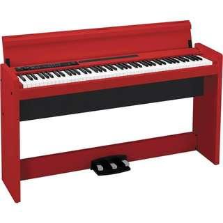Korg LP-380 - 88-Key Digital Piano (Red)