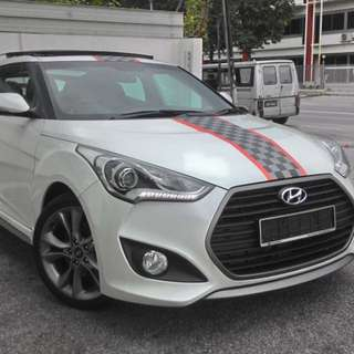 Rebate New Hyundai Veloster turbo sport 1.6 turbo engine saving fuel sport car