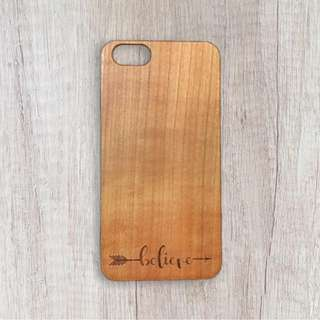 Believe - Personalised Wooden Phone Case