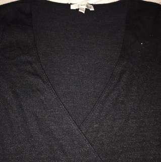 Wilfred vneck black long sleeve xxs