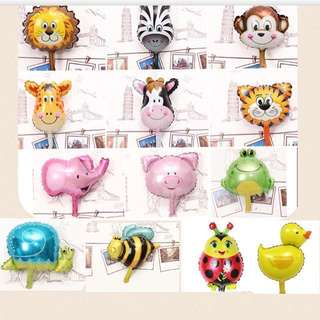 (5/11) 5pcs $6.00 -Animal mini foil balloons wall deco ( inflate with normal air ) (PROMOTION)