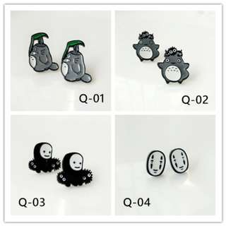Cartoon Oil Painting earring Q
