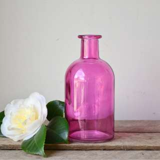Small Decorative Pink Round Bottle