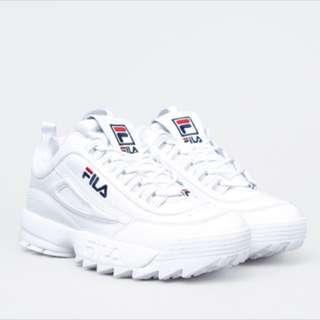 韓國限定 FILA Disruptor 2 大鋸齒厚底鞋 復古 球鞋
