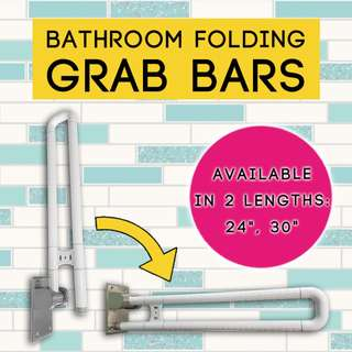 Bathroom/Toilet Safety Folding Grab Bar ~ Installation Available.