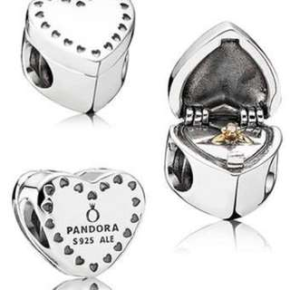 Pandora Heart Gift Box Charm