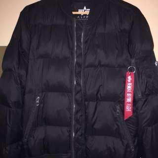 alpha industries echo puffer jacket