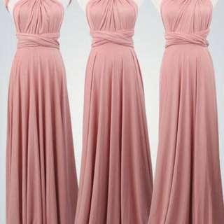 INFINITY DRESS in Rose Nude