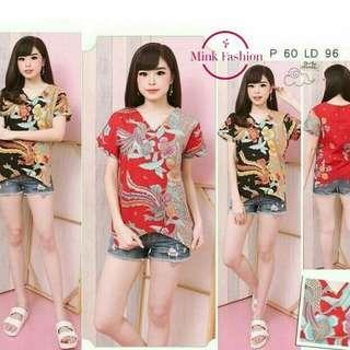 Baju atasan fashion Batik mfb1272