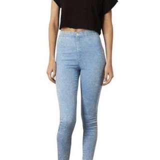 Original Topshop Acid Washed Light Joni jeans