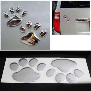 🐾 3D Animal Dog Cat Footprint 3M Car Stickers 🐾