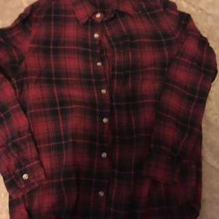 Brandy Melville Plaid Shirt