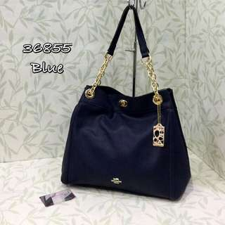 Coach Turnlock Shoulder Bag Blue Color