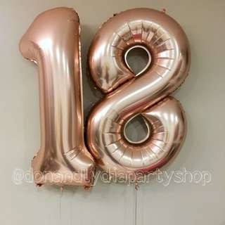 "40"" number balloon"
