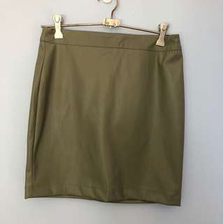 Green Bardot skirt