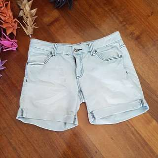 Fades distressed mid thigh denim shorts Size10