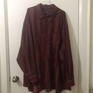 Vintage Red Oversized Shirt