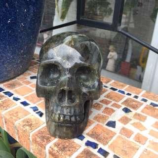 Amazing labradorite skull