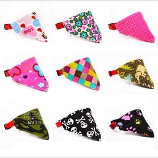 Cute Lovely Pet Dog Cat Canvas Scarf Collar Adjustable Puppy Triangle Bandana High Quality Pet Cat Tie Collar XS-XL 9 Colors
