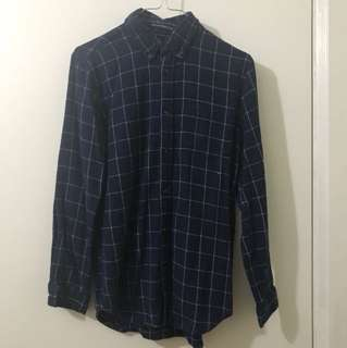 Brandy Melville Navy Grid Flannel