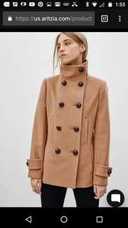 Talula Babaton camel cashmere and wool coat xs