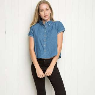 Brandy Melville Denim Top